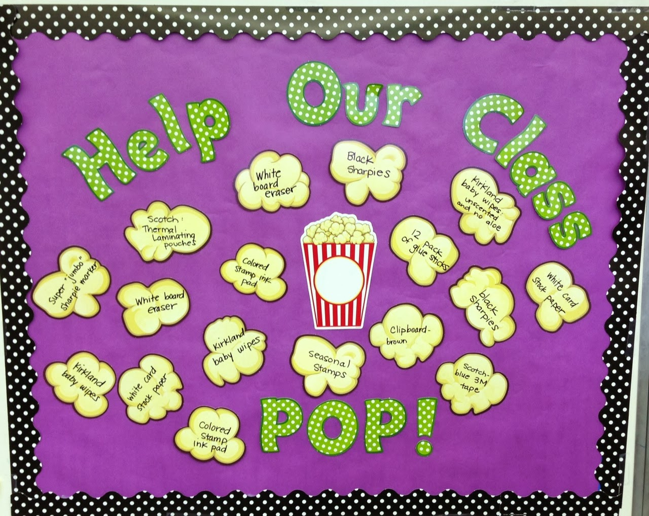 Letters for bulletin boards templates