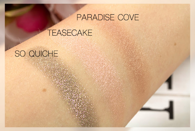 colourpop so quiche teasecake paradise cove swatches