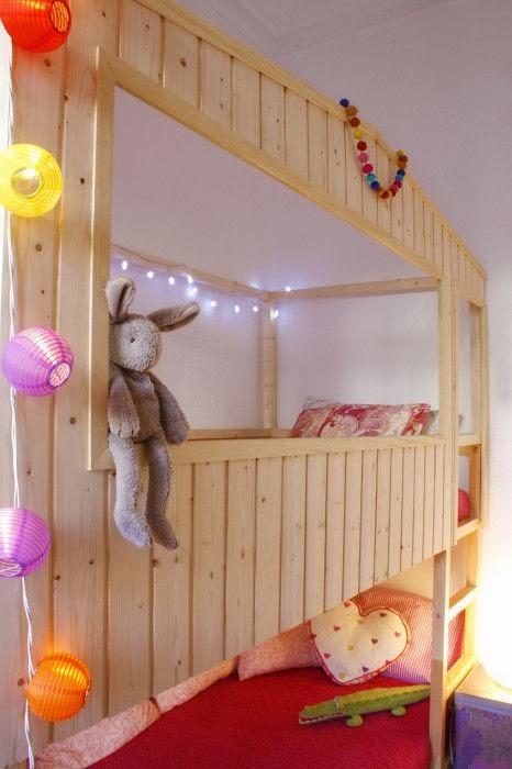 Mommo design kura bed hacks for Ikea wooden bunk beds