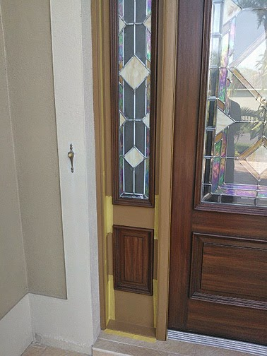 Completed Painting Front Doors To Look Like Wood