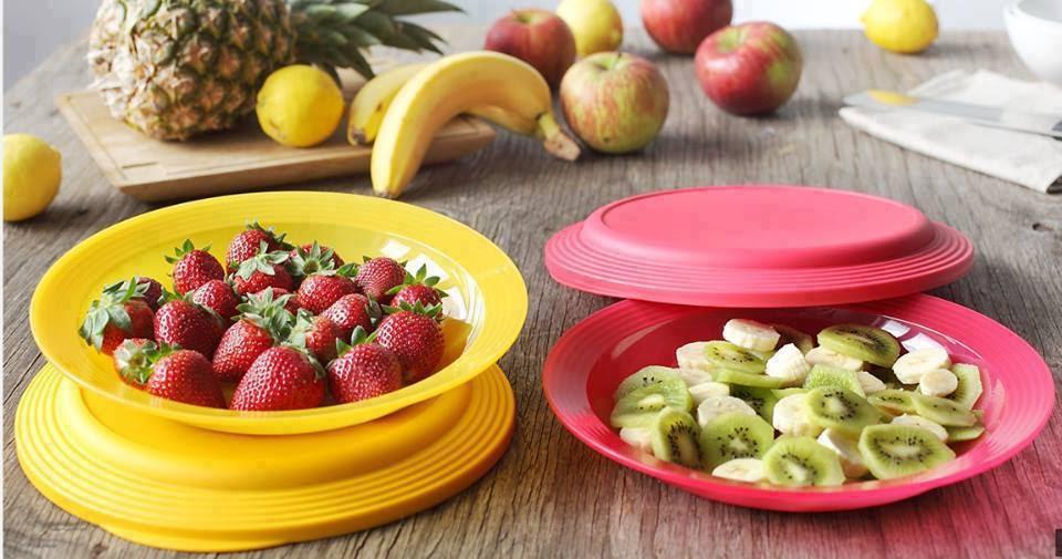 Platos dobles especial t en la cocina con tupperware - Platos para picnic ...