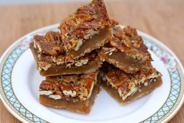 Salted Maple Pecan Pie Bars