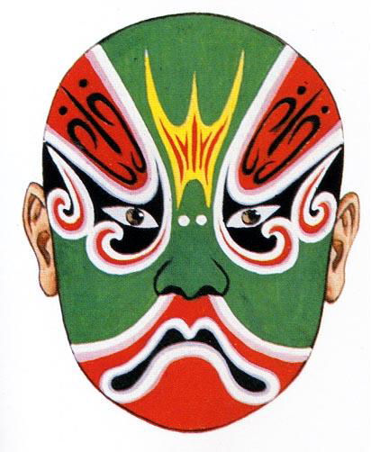Chinese Dragon Face Paint