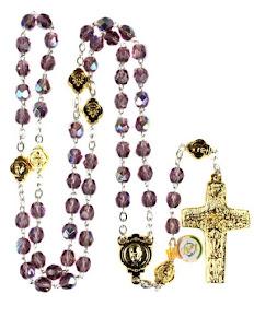 Amythylist Crystal Beads Rosary