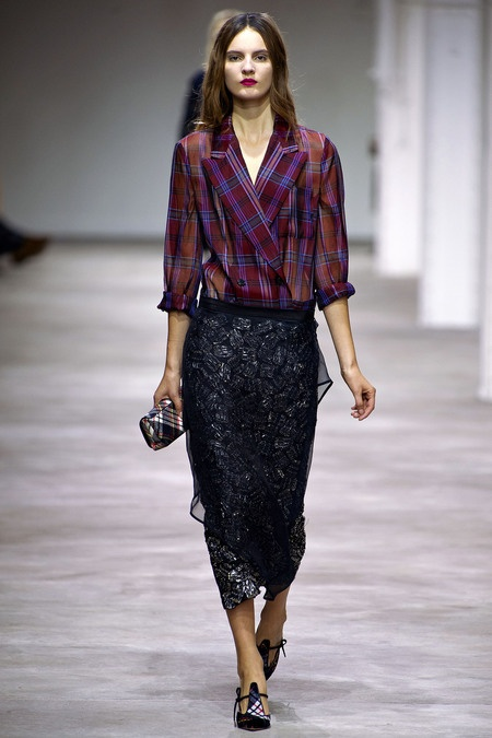Plaids and Grunge on the Runway
