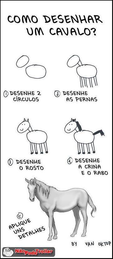 como desenhar um cavalo, muito facil eauheua