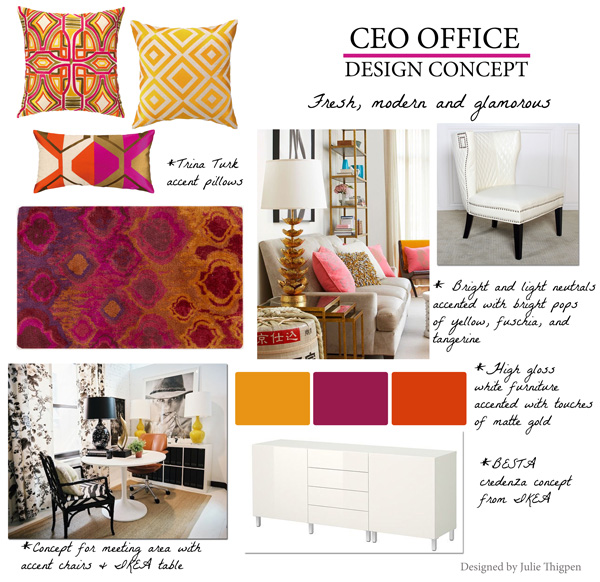 Design Concepts Furniture concept board and furniture layout for a master bedroom Current Project Office Concept For Clothing Company
