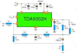 tda9302H rangkaian defleksi vertical