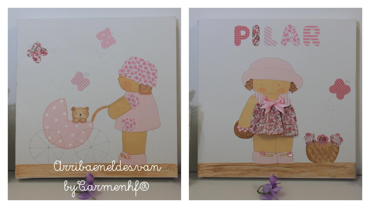 Decoraci n infantil personalizada cuadros infantiles - Cuadros infantiles para habitacion de nina ...