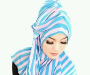 poto model kerudung turban instan