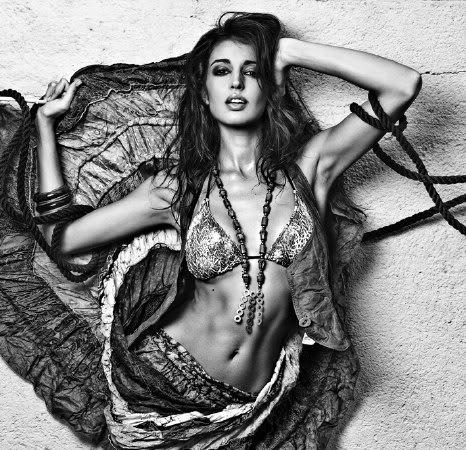 Noelia Lopez sexy in lingerie fashion