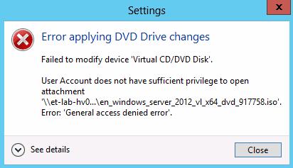Error: replication access was denied error code: 8453