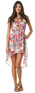 FLORAL CHIFFON PRINT DRESS