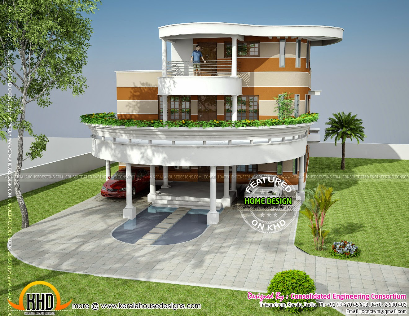 Unique house plan in kerala kerala home design and floor for Cool modern house ideas