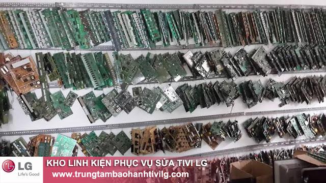 Hình ảnh kho linh kiện phục vụ sửa chữa tivi LG