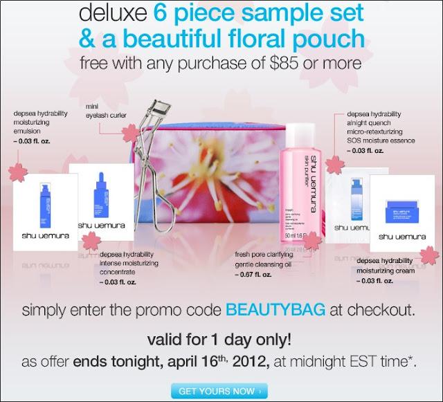 Makeupbyjoyce shu uemura coupon code 2012 free deluxe 7pc beauty bag set free shipping - Houseplanscom discount code set ...