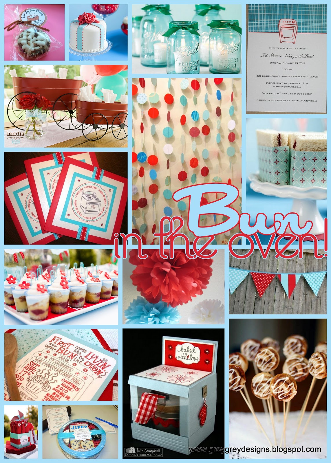 greygrey designs inspiration bun in the oven baby shower