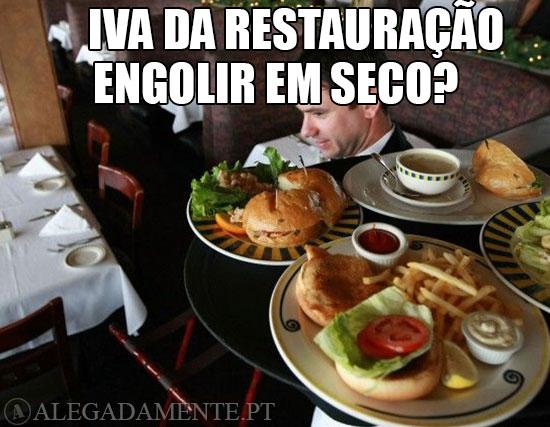 Imagem de empregado de Restaurante - IVA da Restauração: Engolir em Seco?