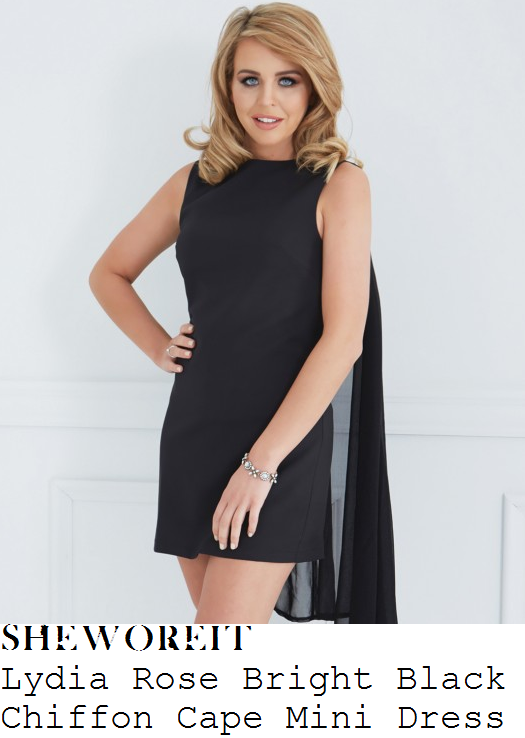 lydia-bright-black-sleeveless-cape-etail-mini-dress