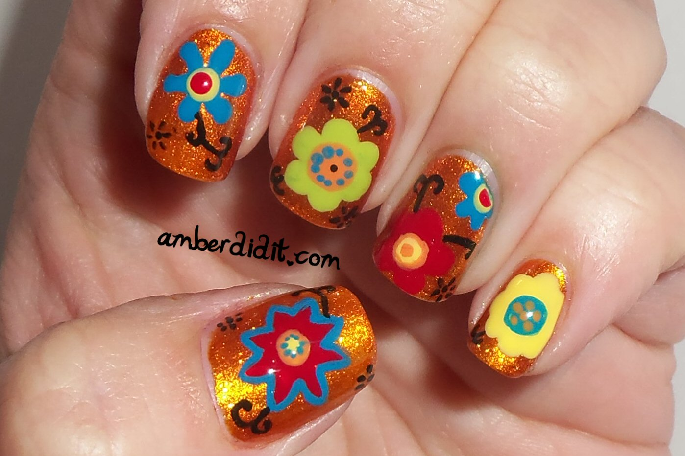 Amber did it!: Scrapbook Paper Inspired Nails