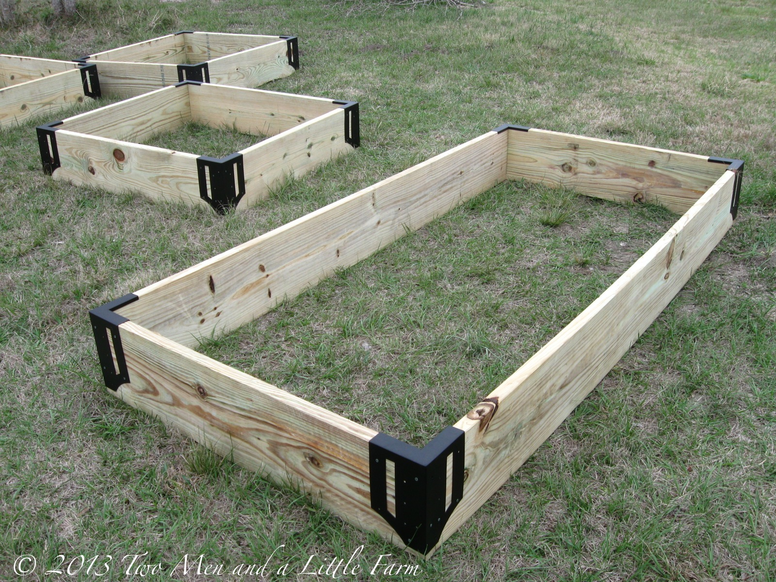 two men and a little farm: raised garden beds, step one complete