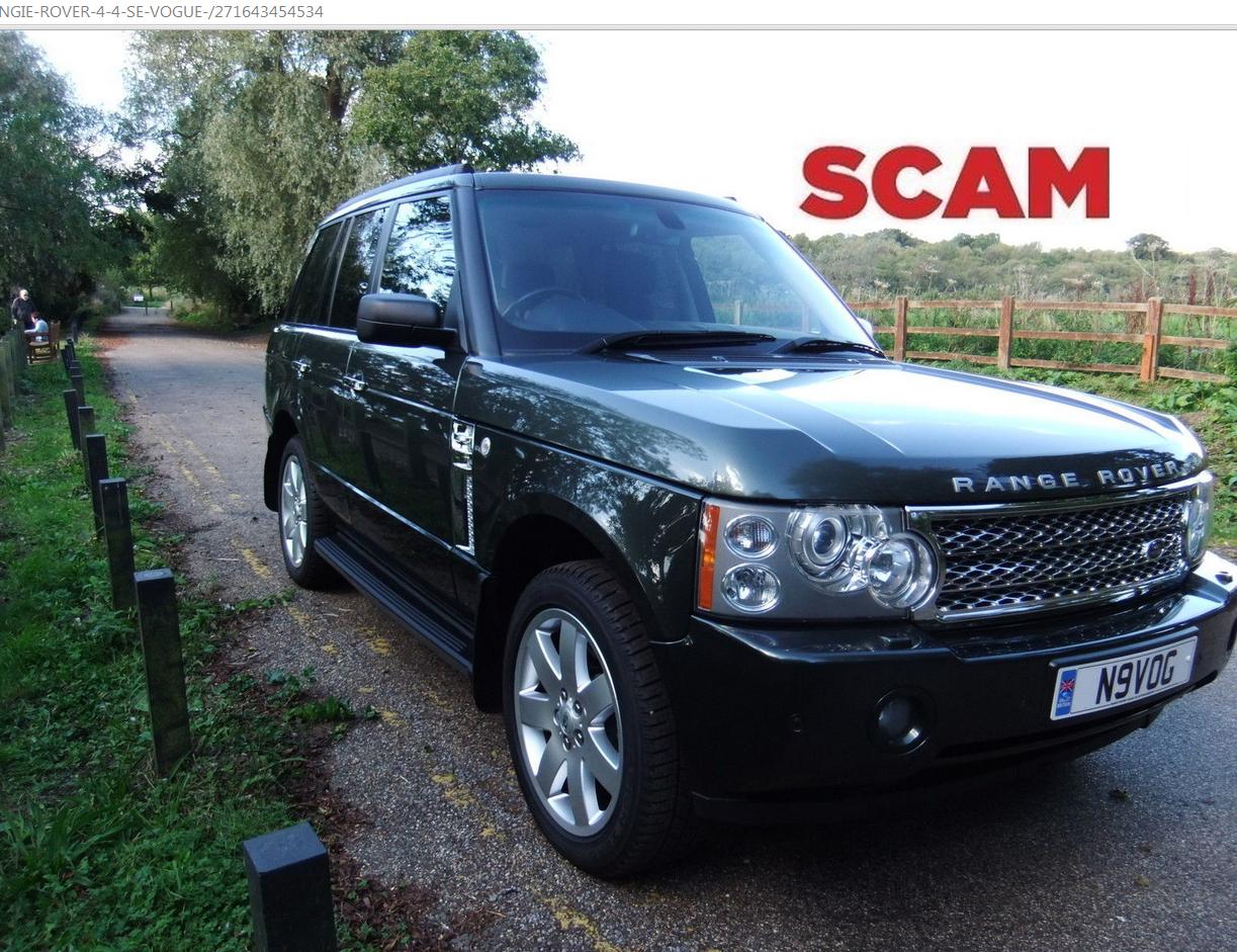 scam range rover 4 4 se vogue 2006 n9vog 7000 ebay fraud n9 vog 23 oct 14. Black Bedroom Furniture Sets. Home Design Ideas