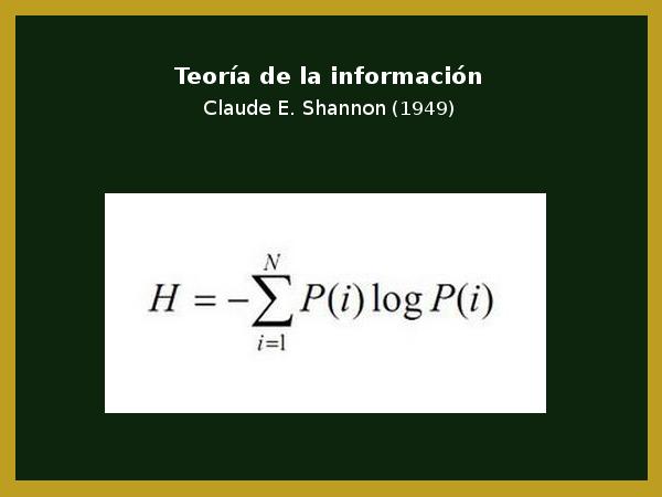 Teoría de la información de Shannon