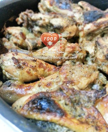 Lemon & Herb Caramelized Braised Chicken الدجاج المكرمل بالأعشاب والليمون