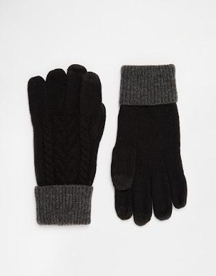ASOS lambswool gloves