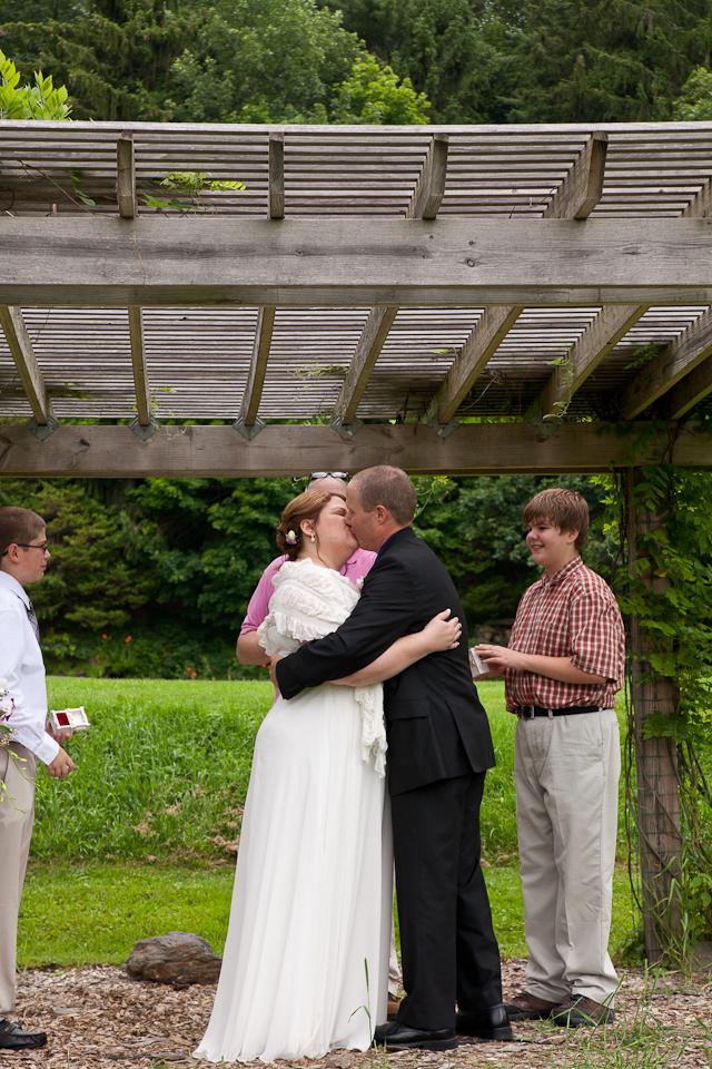 Kripalu Yoga and Health Center, Lenox Berkshire MA wedding, elopement, ceremony, the aisle, Mr & Mrs, documentary, photography, photogragher, the kiss