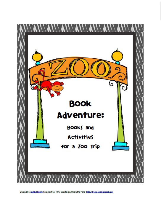 My Adventure Book Printable Cover : Ready set read free printables zoo activities and books