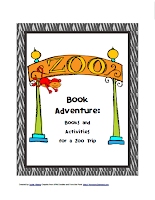 zoo preschool theme, free pdf, free printables, book activity