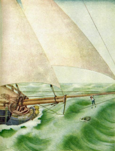 Boarding Hispaniola Edmund Dulac