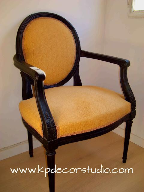 Venta de sillas antiguas. Luis XVI. Estilo modernista. Butaca vintage
