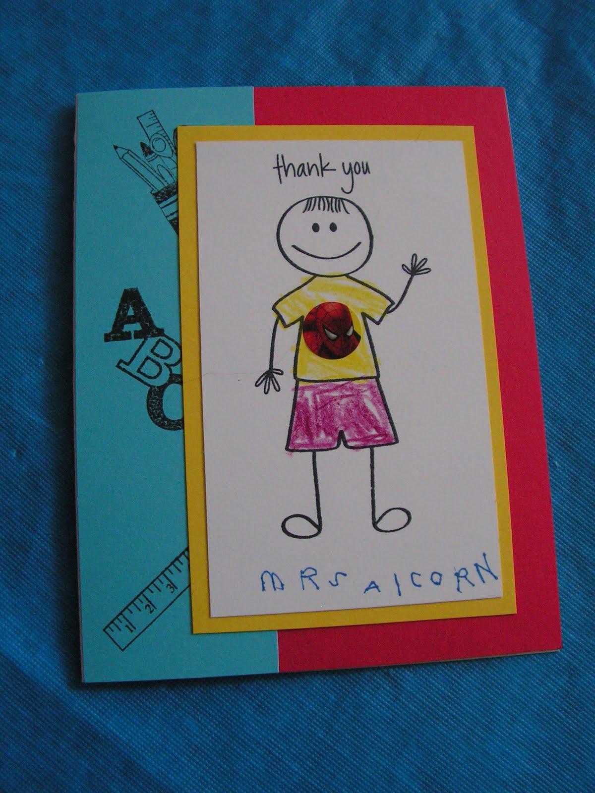 Lynnpenguin's Creative Corner: Teacher Thank You cards