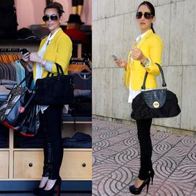 Kim Kardashian Yellor Blazer