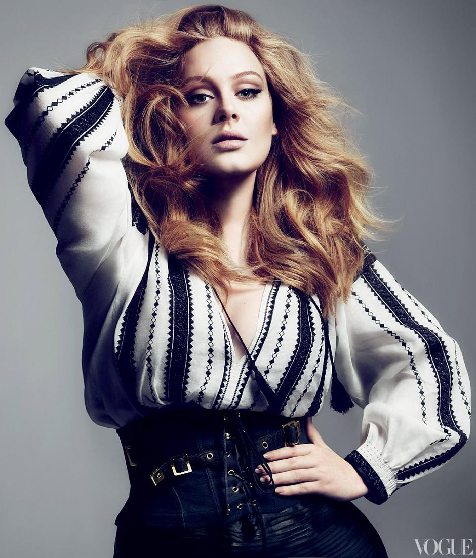 glamour by fatima sexy adele us vogue march 2012