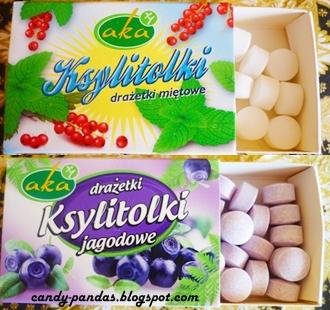 Ksylitolki - miętowe/jagodowe drażetki pudrowe - Aka