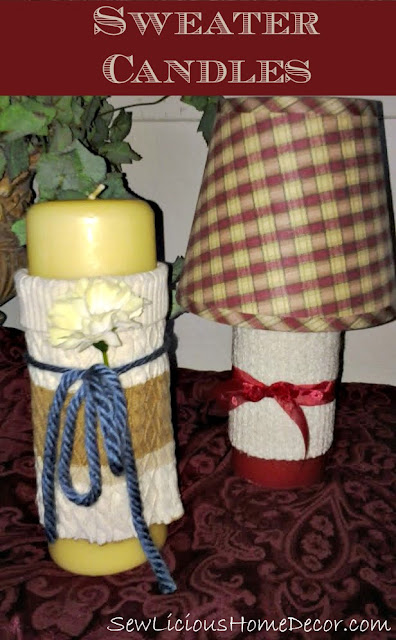 Sweater Candles {home decor}