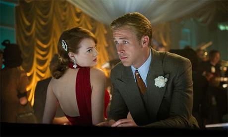 Ryan Gosling y Enma Stone en Ganster Squad