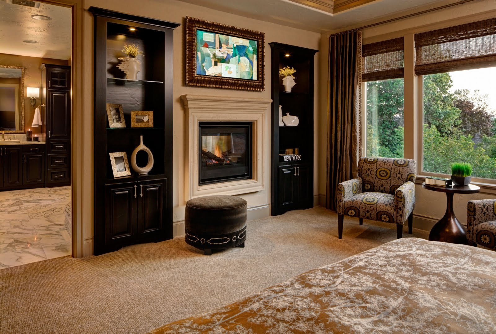 Arbor custom homes on bull mountain chateau marseille new photo 39 s Master bedroom with fireplace images
