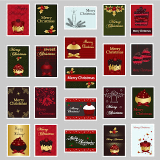 クリスマスをイメージした洗練されたスタンプ exquisite christmas ornaments stamp イラスト素材2