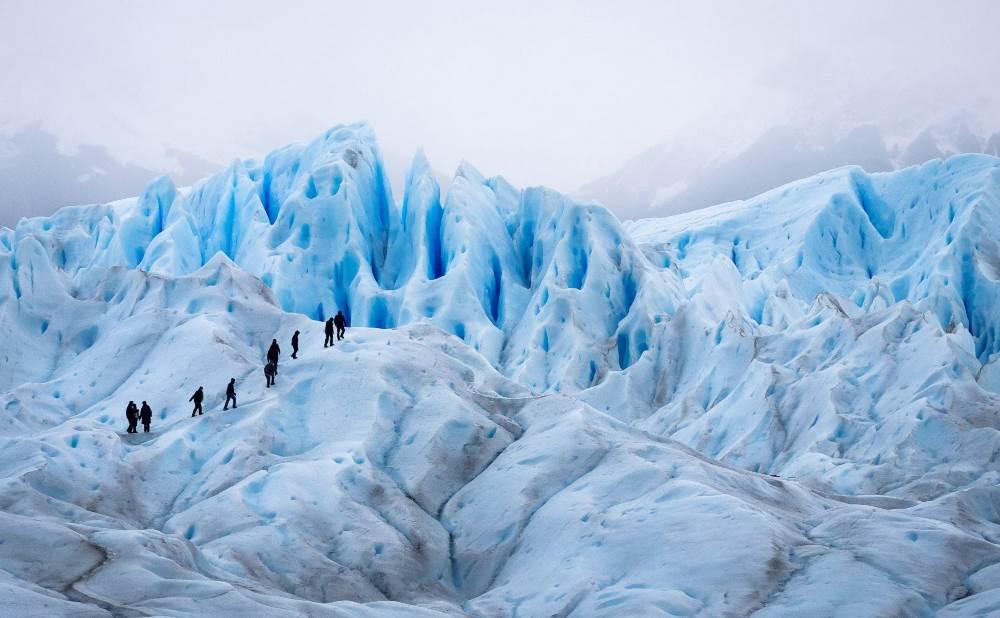 Walking on the Perito Moreno Glacier, Patagonia, Argentina