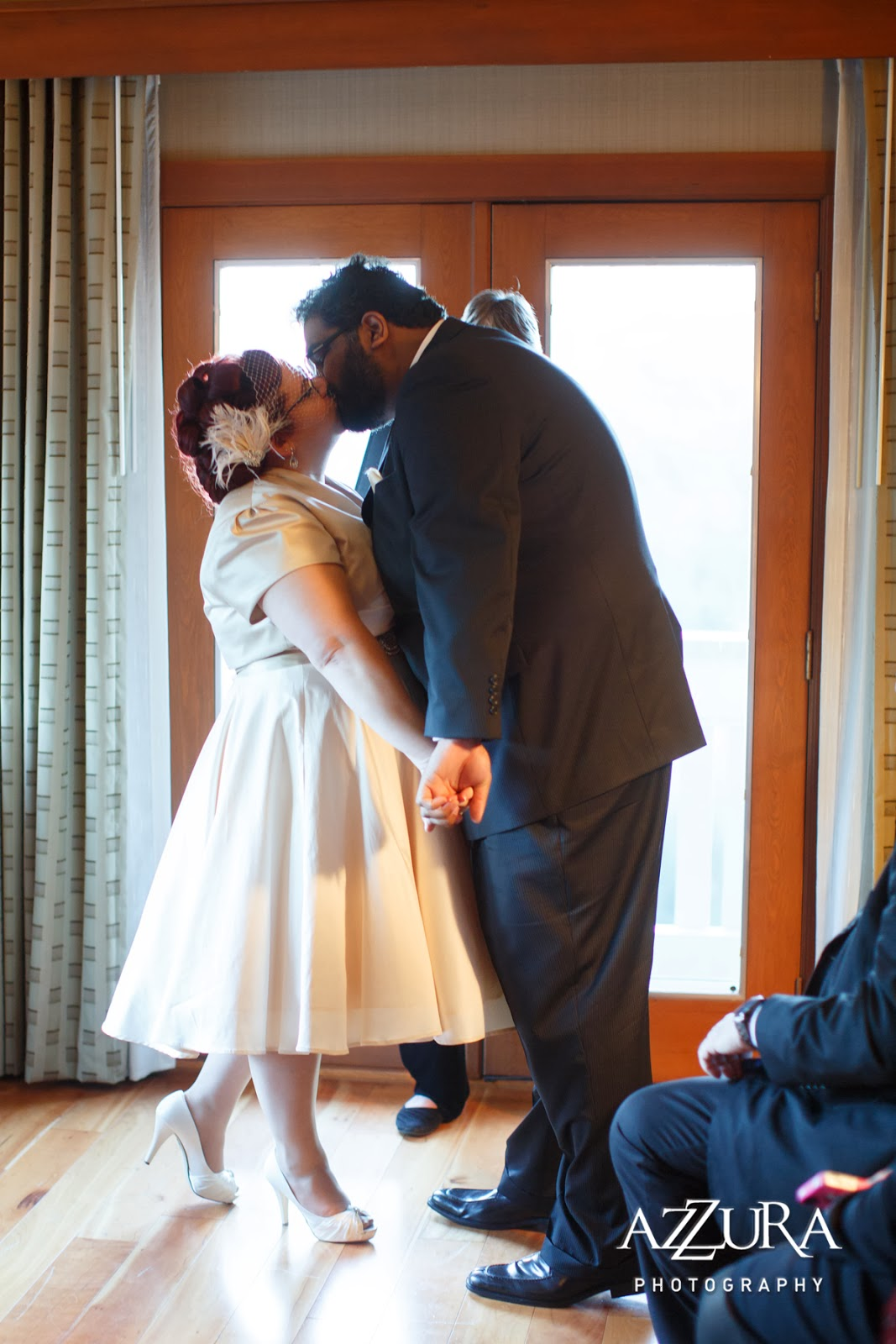 Time to kiss! Patricia Stimac, Seattle Wedding Officiant