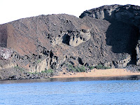 Beach and Shore Line on Bartolome Island, Galapagos