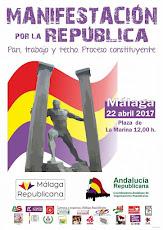 Manifestación por la República en Málaga
