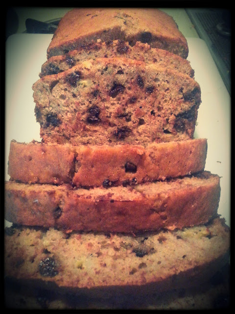 seriously the best chocolate chip banana bread!