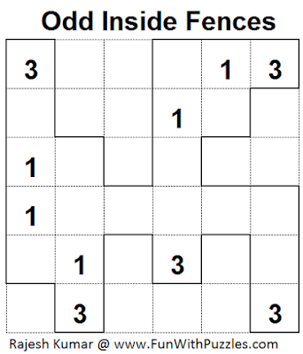 Answer of Odd Inside Fences (Mini Puzzles Series #36)