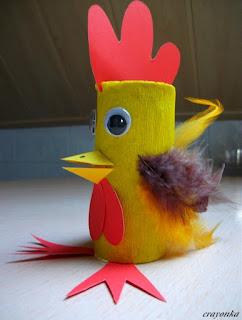 Kurczak z rolki po papierze toaletowym