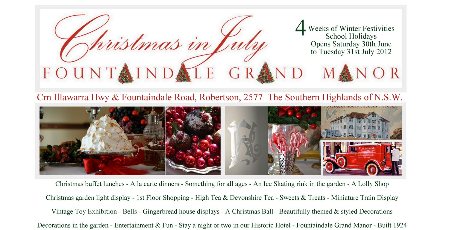 Fountaindale Christmas in July